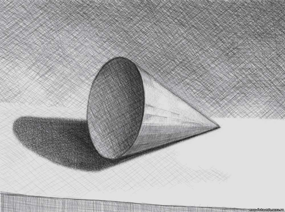 Рисунки с тенями карандашом поэтапно