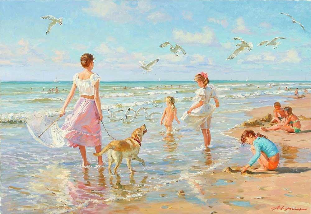 Семьи на море открытки, стихами днем